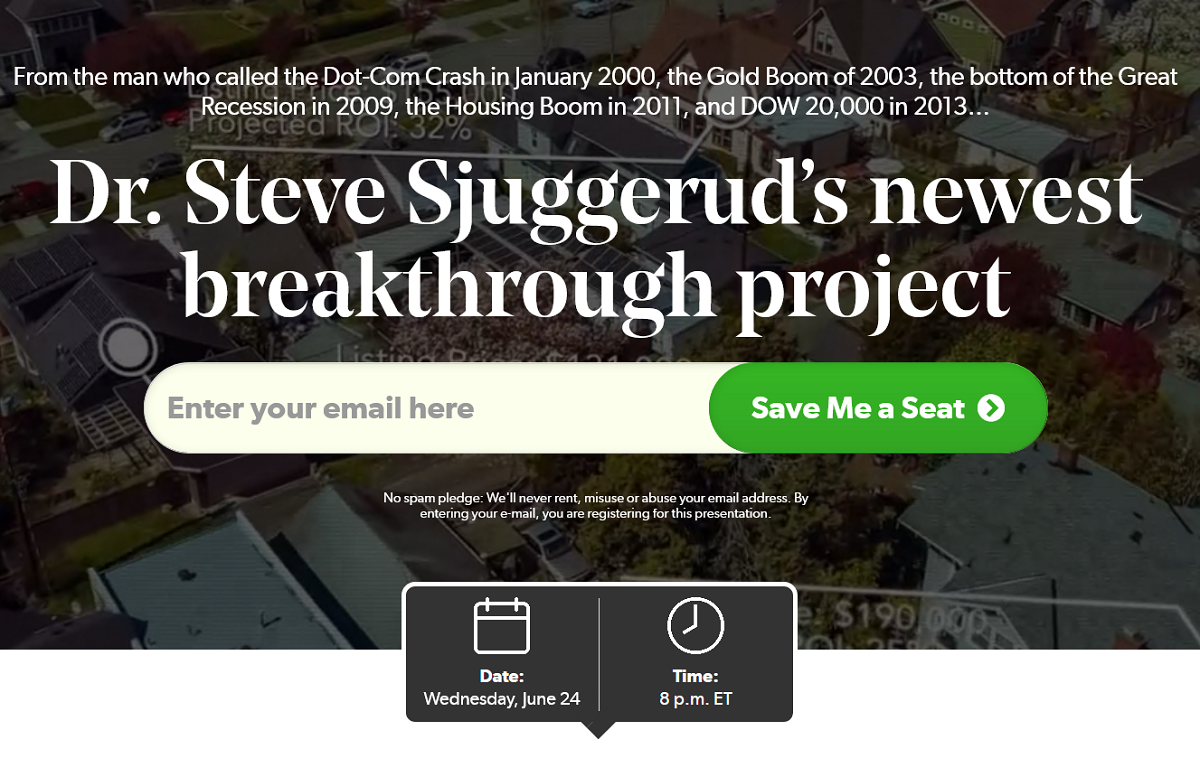Project Real Estate by Dr. Steve Sjuggerud