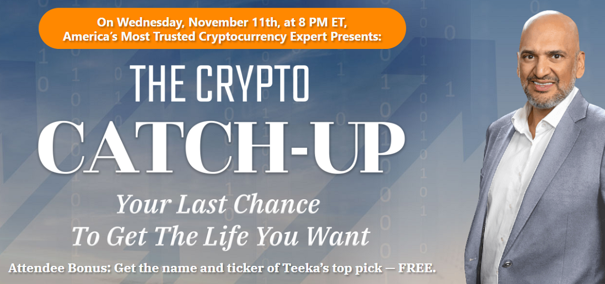 The Crypto Catch Up Review: Teeka Tiwari Crypto Webinar Event Details