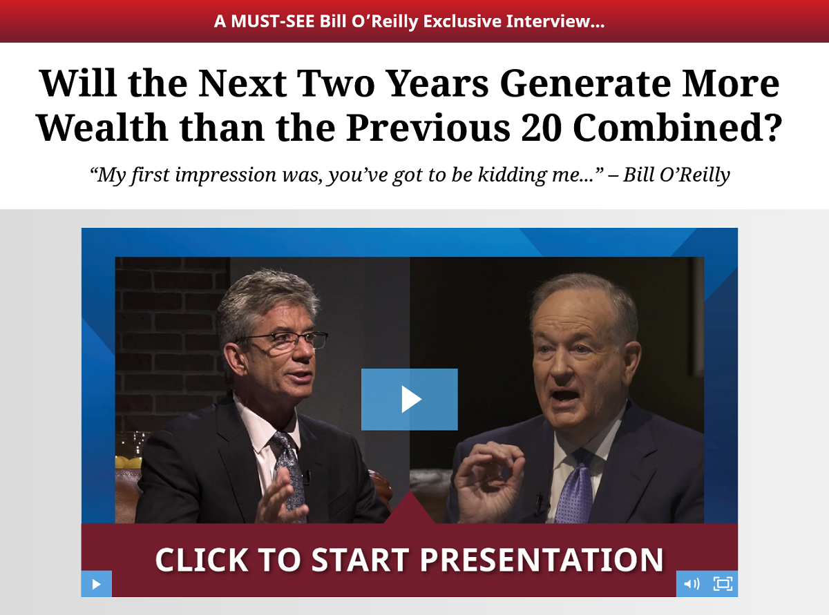 Bill O'Reilly and Alexander Green Interview To Discuss The Immediate Future of America