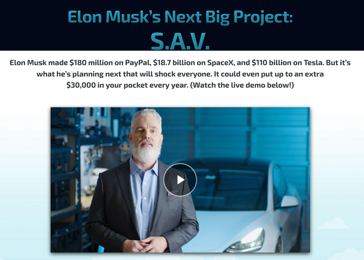 Jeff Brown's Near Future Report: What's Elon Musk's S.A.V.?